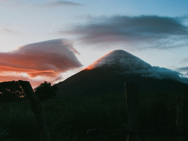 Image of Ometepe at sunrise