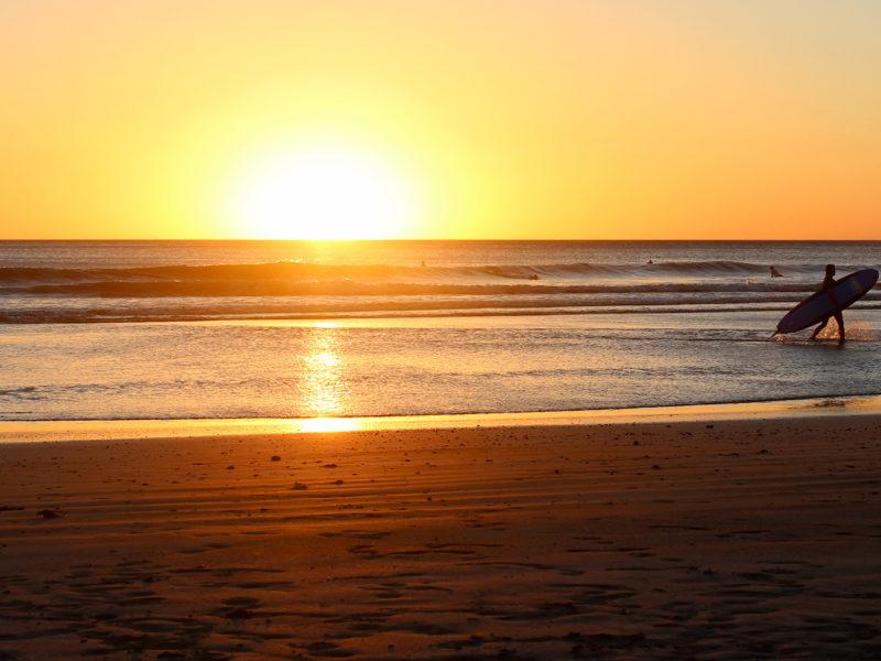 Image of sunset on a Nicaraguan beach