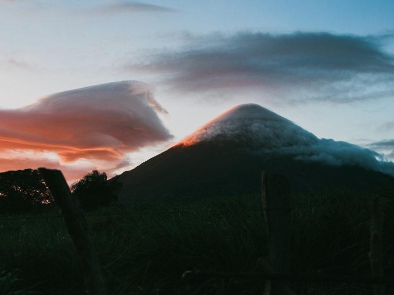 Image of Ometepe at sunrise
