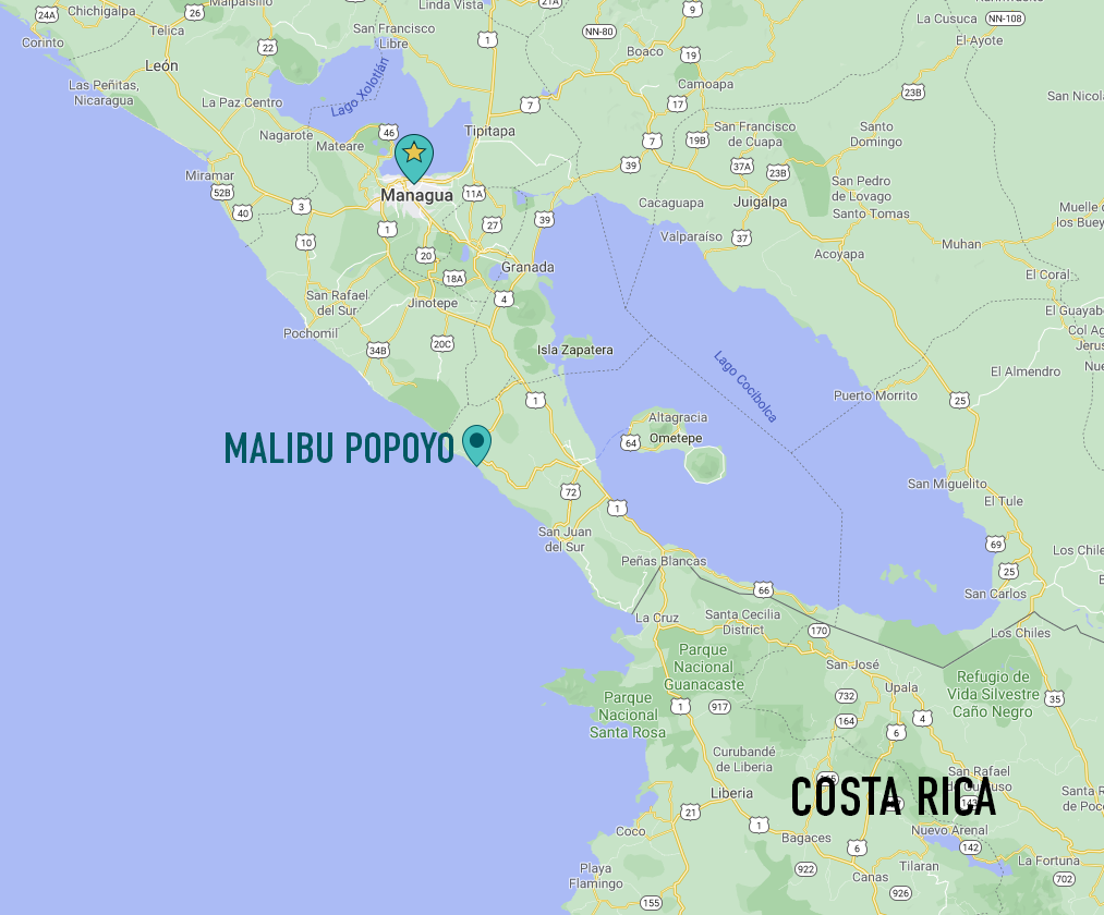 Malibu Popoyo Map